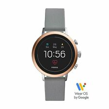 Fossil FTW6016 Gen4 Smartwatch Venture Watch HR Grey Leather Watch 40mm Ladies