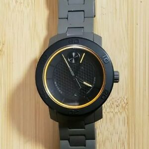Movado Bold 46mm Black w/Gold Chapter Ring, Date, Titanium Case Gray Composite