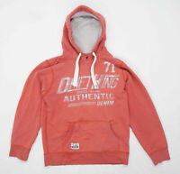 Drift King Mens Size M Cotton Blend Graphic Red Hoodie