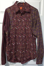BOSS Hugo Boss Blouse Floral Top Long Sleeve Button Front Large L