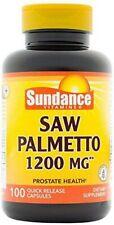 Sundance SAW PALMETTO 1200mg Mens URINARY Prostate Health 100 Capsules