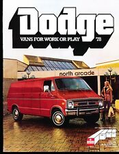 1978 Dodge Tradesman Van 12-page Original Car Sales Brochure - Cargo Steeet Kary