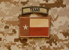 Tan Texas State Flag & Multicam Texas Tab Set Lone Star State Patch Navy SEAL