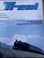 I Treni 63 1986 Elettrotreno E 321 Rivarossi e LIMA - 25 anni TEE Svizzera
