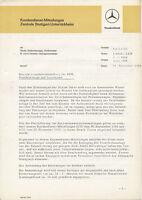 1120MB Mercedes Kundendienst Mitteilung Prospekt 1964 11.9.64 deutsche Ausgabe
