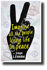 """""""Imagine All The People..."""" - John Lennon - NEW Motivational Quote Poster"""