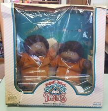 Super RARE!  1985 Cabbage Patch Kids Twins - Black - African American Twin Boys
