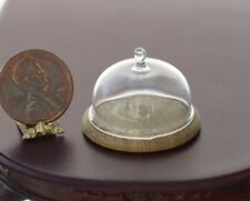 Dollhouse Miniature Artisan Glass Cheese Dome by Philip Grenyer