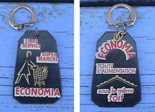 Porte-clé des années 1960-70 Libre-service, Supermarché Economia