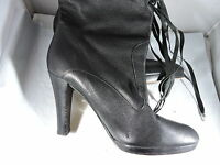 Betsy Johnson Leather Mid Calf Boots Size 8 M