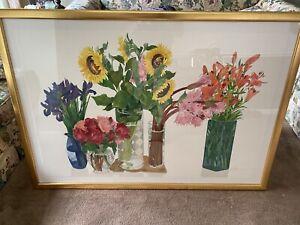 "Gary Bukovnik ""Summer Still Life"" 1994 CTP Signed Watercolor Print + Signed Book"