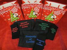 Personalised Boxer Shorts and Socks Set - Christmas - Gift Bag