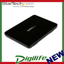 STARTECH  USB 3.1 (10Gbps) Tool-Free Enclosure for 2.5in SATA SSD/HDD - USB-C