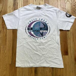 Men's Vintage 90s Reebok Julie Foudy Soccer Camp Mia Hamm Autographed Shirt Sz S