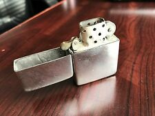 EARLY 1940'S STERLING SILVER LIGHTER MAP OF INDIA 14 HOLE ZIPPO INSERT