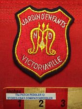 CANADA PATCH Defunct Quebec School ~ JARDIN D'ENFANTS VICTORIAVILLE CREST 5NB6