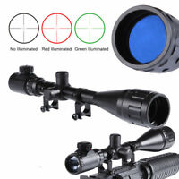 Illuminated Mil-dot 6-24X50AOEG Rifle Scope W/ 20mm Rail Mounts Set for Hunting