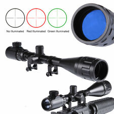 6-24X50AOEG Illuminated Mil-dot Rifle Scope 20mm Rail Mount Set With Dust Cover