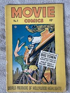 MOVIE COMICS #1 Fiction House 12/46