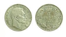 pcc1646_21) YUGOSLAVIA - SERBIA - PETER I° - 1 DINARA SILVER 1904