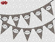 Happy Birthday Leopard Spots Black Chic Theme Bunting Banner party decoration UK