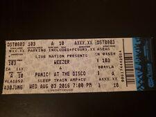 Weezer Unused Concert Ticket