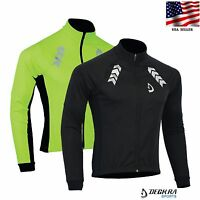 Mens Cycling Jacket Softshell Long Sleeve Thermal Windstopper Sports Jacket