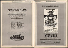 Goin' Coconuts_Orig.1978 Trade Ad / 3pg promo / poster_Donny and Marie Osmond