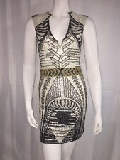 Mini Dress Embellished Squinted Party Cocktail Size M 4