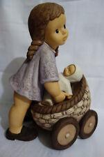25 cm  Großfigur Goebel Nina & Marco Limpke Kinderwagen