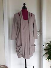 Chillytime Damen Kleid mit Taschen Minikleid 3/4 Arm Sand meliert Gr. 38