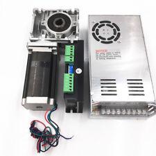 Nema23 3nm Stepper Motor Drive Kit Worm Gear Reducer 101 L112mm Power Supply