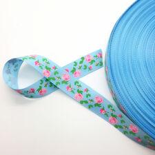 "New 5 Yards 3/4"" (20mm) Printed Grosgrain Ribbon Hair Bow DIY Sewing AD37"