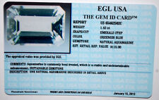 EGL USA CERTIFIED NATURAL AQUAMARINE EMERALD STEP GREENISH BLUE 1.42 CT, $115!