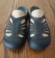 KEEN Calistoga Black Leather Slide Sport Sandals Women's size 7.5