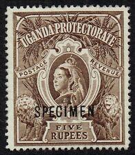 Uganda 1898-1902 5r. brown optd. Specimen, MNH (SG#91s)