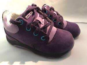 Stride Rite Purple Nubuck Leather  Shoes Infants Size 6 Medium