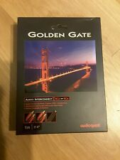 """AudioQuest Golden Gate 1m (3'4"""" ft.) RCA to RCA audio Interconnect Cable Used"""