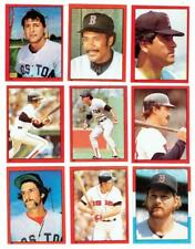 BOSTON RED SOX ~ 1982 Topps Stickers Lot w/ Hall of Famers ~ FREE SHIPPING