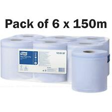 Tork M2 Centre Feed Blue Wiping Basic Paper Towel Roll Centrefeed Pack 6 x 150m