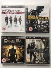 PS3 Game Bundle -Operation Flashpoint Red River+Dragon Rising+Crysis 2+Deus-1077