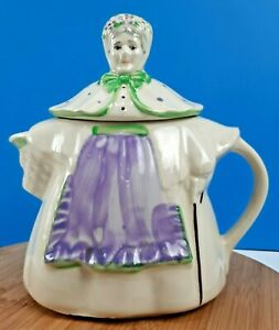 Vintage Shawnee Pottery Granny Ann Teapot Hand-Painted Made in USA