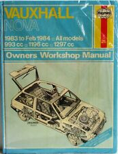 Haynes - Opel Nova 1983 - Feb 1984 Todos los Modelos Propietario Manual de
