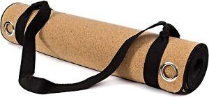 "HIGH QUALITY Professional Cork Yoga Mat Thick Natural Cork 5mm Non-Slip 72 x 24"""