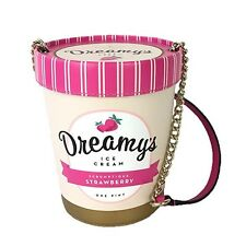 KATE SPADE Strawberry Dreamy's ICE CREAM PiNT CROSSBODY New $249 💜