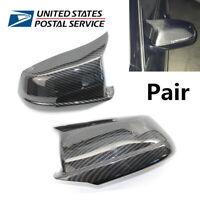 For BMW F10 Pre-LCI 11-13 Carbon Fiber Look Door Side Wing Mirror Cover Cap 2Pcs