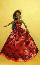 Prinzessin Ball Abend Braut Kleid für Barbie Steffi Mode Puppe Hochzeitskleid 33