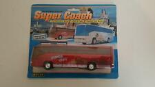 """Welly Super Coach 7.25"""" Mercedes Benz Express Tours Die Cast Scale Model Red"""