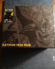"""DC Comics BATMAN 80 Years """"1939"""" Mug DC Worlds Finest The Collection Exc Oct 19"""