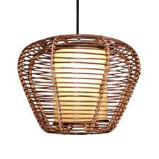 "Handmade 15"" Modern Rattan Ceiling Pendant Lamp Living Lights Fixture Chandelier"